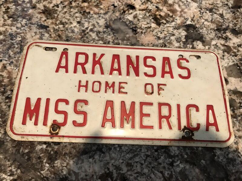 1964 Arkansas License Plate Home Of Miss America
