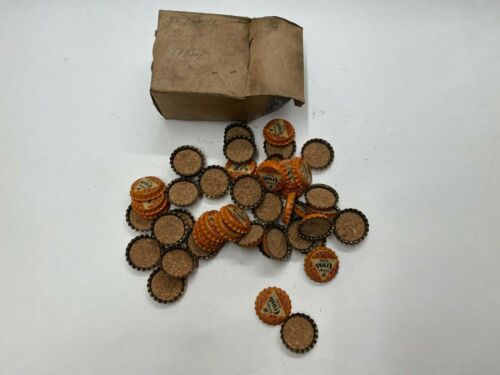 Vintage NOS 1930s 40s Orange Crush Soda Pop Bottle Cork Cap In Original Box