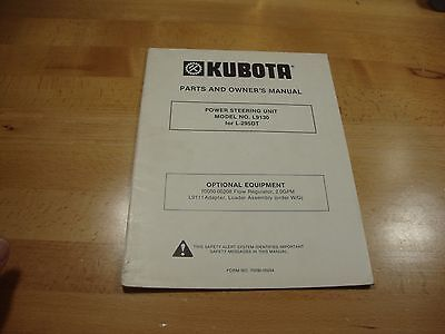Kubota L9130 Power Steering Unit Owners Manual Parts Catalog L295dt