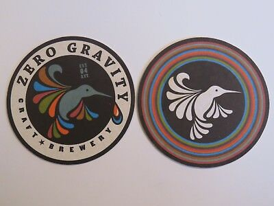 Beer COASTER ~*~ ZERO GRAVITY Craft Brewery ~ Burlington, VERMONT ~ Humming Bird