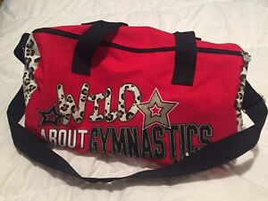 Red & Leopard Print Gymnastics Bag From Justice
