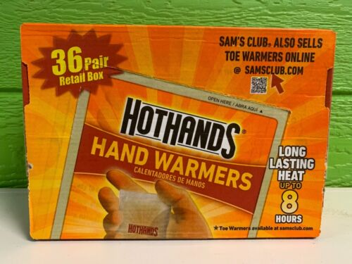 72 Hot Hands Handwarmers Warmers 36 Pairs Outdoor Camping FREE SHIP