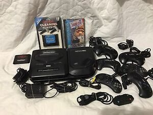 Sega genesis and CD attachment with games