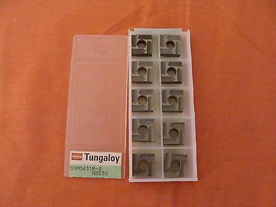 New Old Stock Tungaloy Snmg120404r-s Ns530 Steel Carbide Inserts Lot Of 10