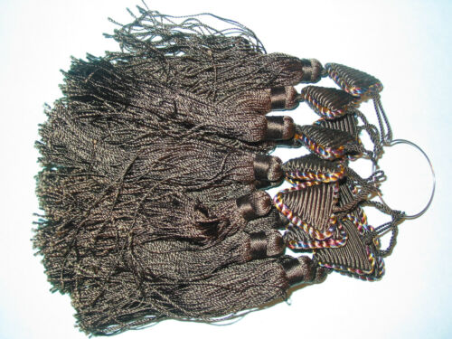 Antique Victorian Silk Tassel ~ Brown ~ Braided Top ~ Never Used