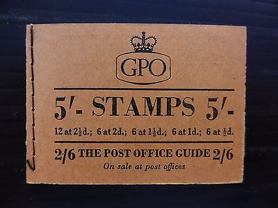 GB Wilding Booklet Jan 1955 Very Fine FP9073