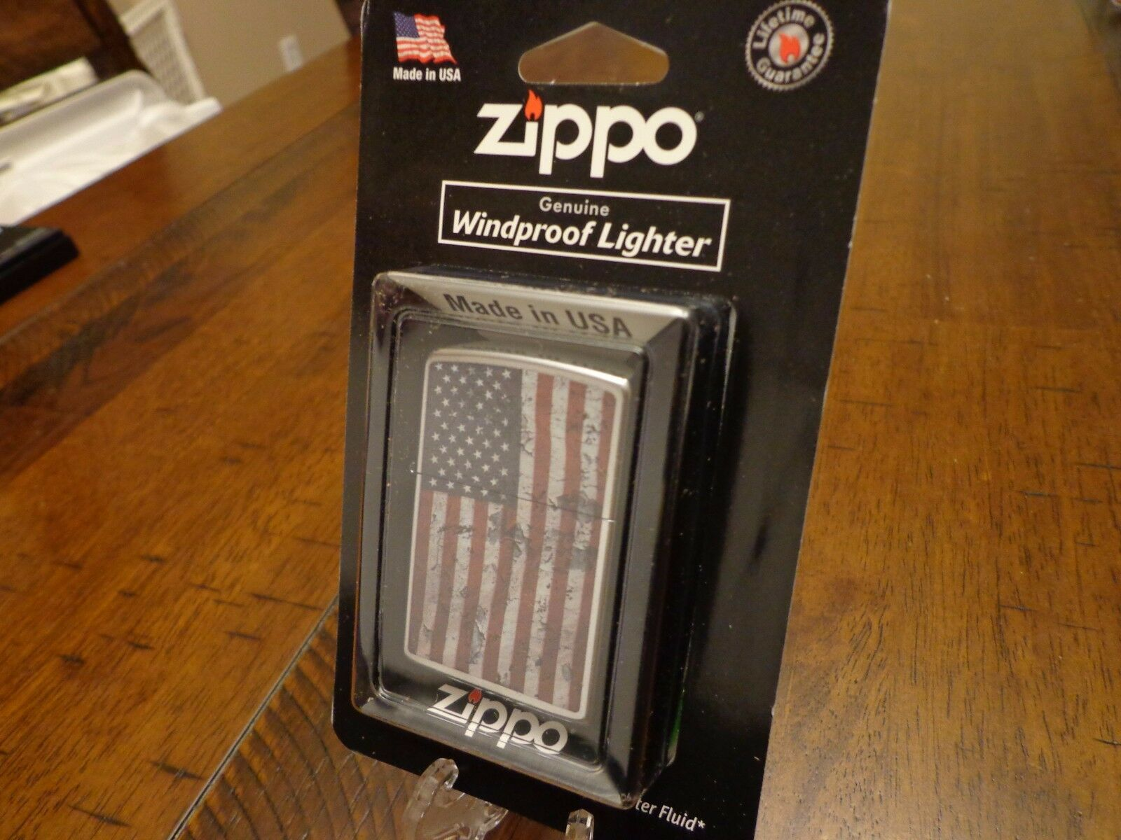 AMERICAN FLAG GRUNGE DISTRESSED LOOK US FLAG USA ZIPPO LIGHT