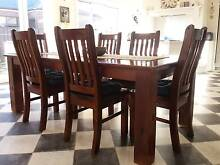 Dining Table and 6 Chairs. Table Custom Made Solid Timber. Elliminyt Colac-Otway Area Preview