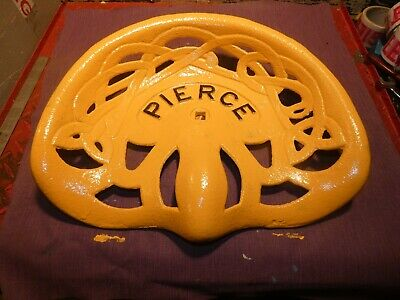 2nd Pierce M103 Vintage Cast Iron Tractor Farm Implement Seat Antique