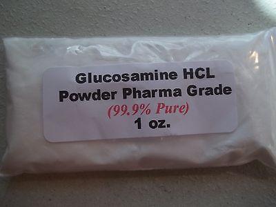 1 oz. Glucosamine HCL Powder (99.9% Pure) Pharmaceutical (Pharmaceutical Grade Glucosamine)