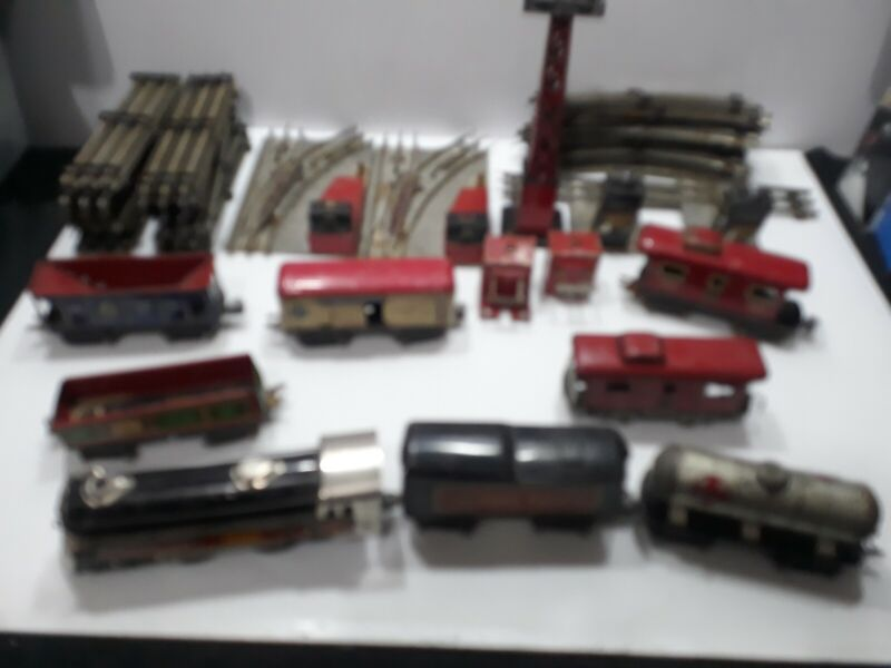 Rare Pre War Marx 13 Piece Train Set Canadian Pacific 3000