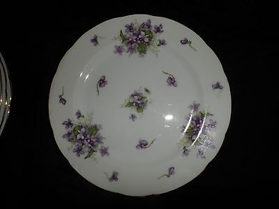 """Rossetti Spring Violets Fine China 10"""" Dinner Plate Occupied Japan Hand Painted"""