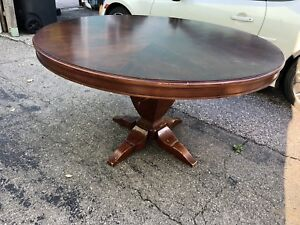 Round wooden table $150
