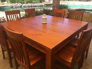 Solid wood dining table + 8 chairs Frankston South Frankston Area Preview