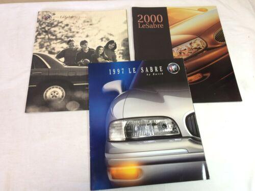 Vintage 1997 1999 & 2000 Le Sabre by Buick Catalog Brochures Lot