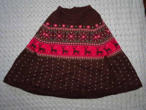 Gymboree 2005 Baby Girls Reindeer Fair Isle Sweater Cape Poncho 18-24 months