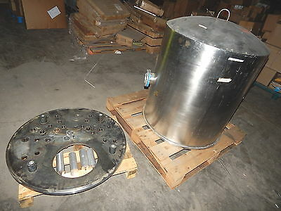 Huge Vintage Cvc Consolidated Vacuum Stainless Steel Bell Jar 31id 35 Tall