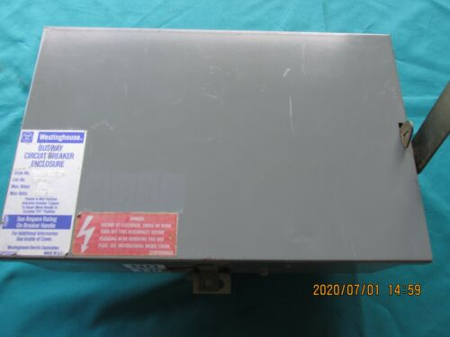 Westinghouse Busway Circuit Breaker 30 Amp 480 volts Used