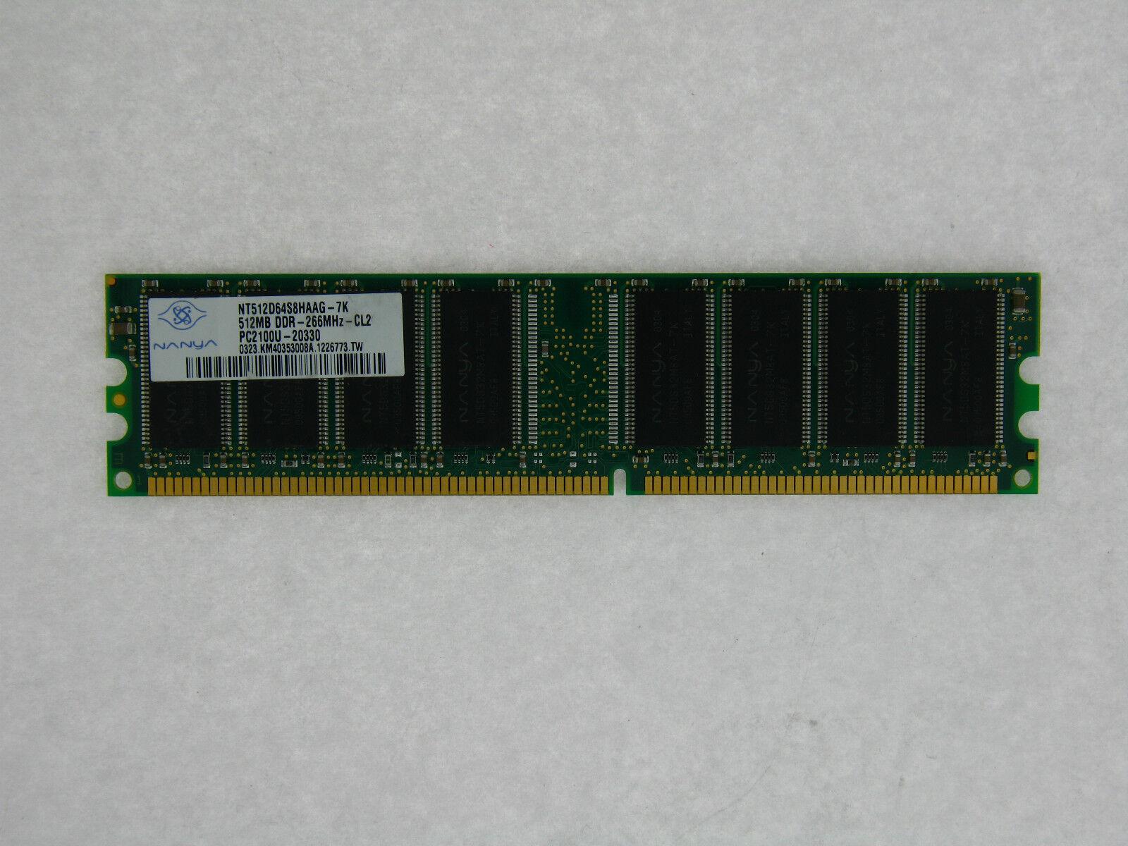 128MB DDR MEMORY RAM PC2100 NON-ECC DIMM 184-PIN 266MHZ