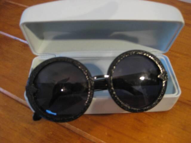 b75366f68c81 Karen Walker Black Orbit Filigree Sunglasses (Orig Box - MINT ...