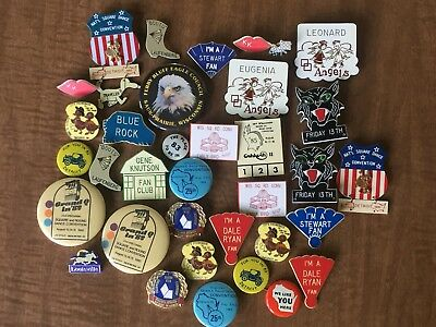 Lot of squaredancing badges 1980's inc NATL. SQUAREDANCE CONVENTION, 35+ pieces