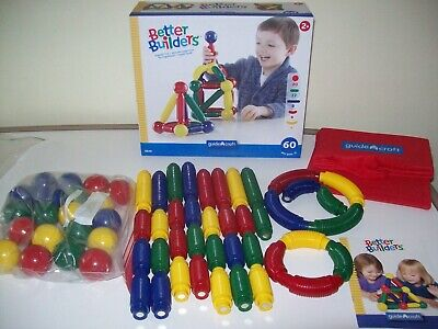 BETTER BUILDERS MAGNETIC BUILDING SET BY GUIDE CRAFT 60 PIECES FOR AGES (Best Toys By Age)