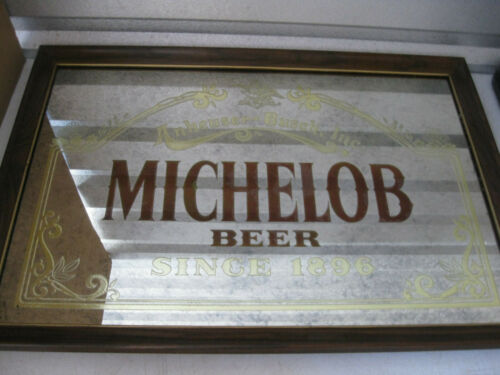 Vintage Anheuser-Busch Michelob Beer Framed Bar Mirror Sign