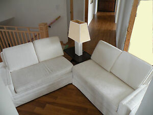Designer Set of 2 Loveseats - changable orientation - elegant