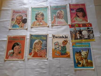 VINTAGE SIXTIES PRINCESS TINA CANDY TWINKLE TREASURE COMICS Thornlie Gosnells Area Preview