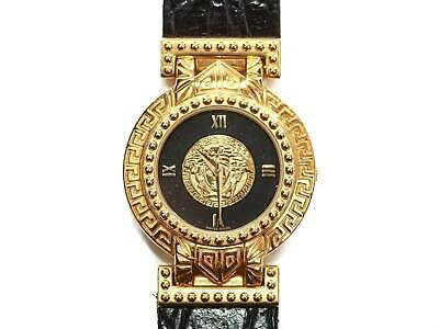 Authentic vintage Gianni Versace medusa Gold plated quartz watch