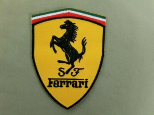 Ferrari Embroidered Iron On Automotive Patch.