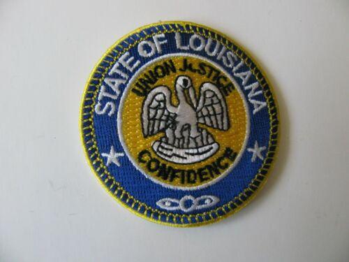 "State of Louisiana ( LA ) Union Justice Confidence Crest Patch Iron On 2.5"" Rare"