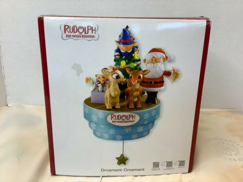 Heirloom Christmas Ornament Rudolph The Red-Nosed Reindeer Motion Music Animated