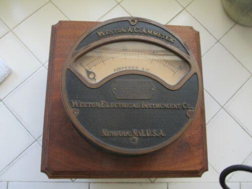 Large Antique Weston  Electrical Instrument  Meter LA & Pacific Electric Railway