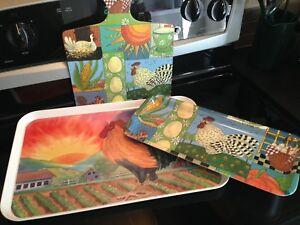 Vintage Colourful Melamine Trays