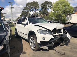 BMW X5 E70 2008 white 3L diesel automatic now wrecking Northmead Parramatta Area Preview