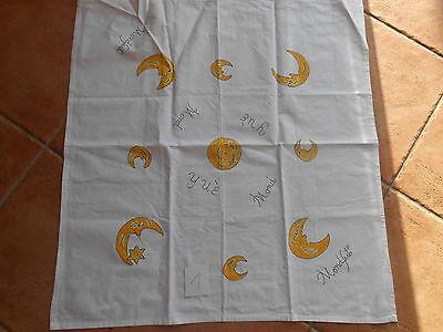 Tischdecke Mitteldecke  Feier  Fest Monddecke Mond Monde 70cm x70cm