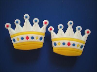 Jibbitz Croc Clog Shoe Plug Button Charm Bracelet Holey Accessories 2 Crowns