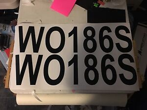 Boat registration stickers $30 a set! Paralowie Salisbury Area Preview
