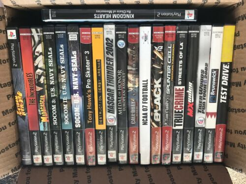 LOT OF 20 ASSORTED PS2 GAMES - COMPLETE - FREE SHIPPING