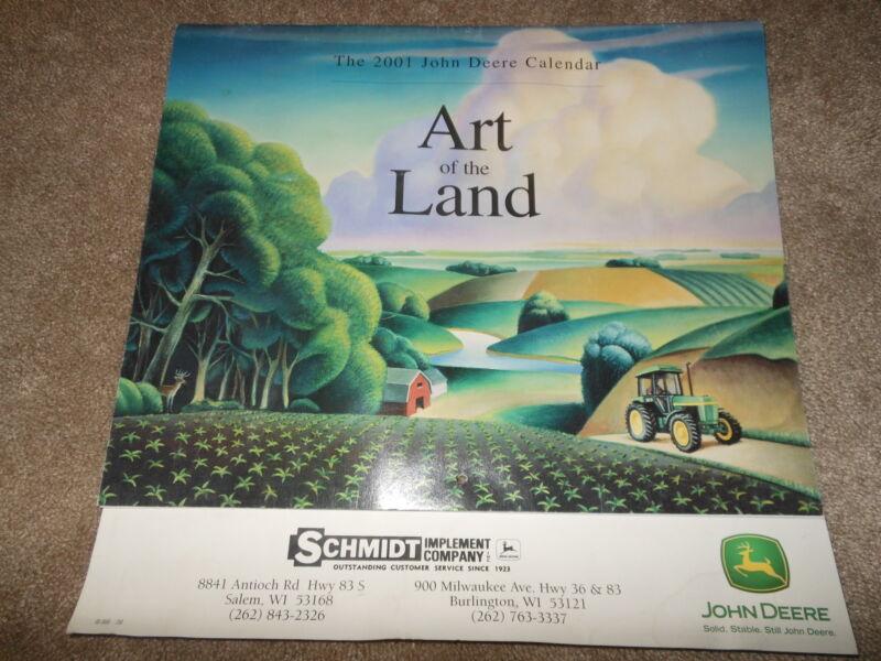 "Vintage 2001 John Deere ""Art of the Land"" Calendar Salem Wisconsin"