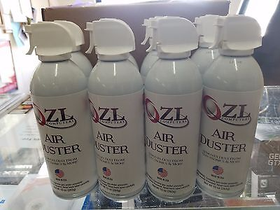 CASE OF 4 10OZ CANS ZL COMPUTERS CANNED AIR COMPRESSED AIR DUSTER WITH STRAW  for sale  Shipping to South Africa