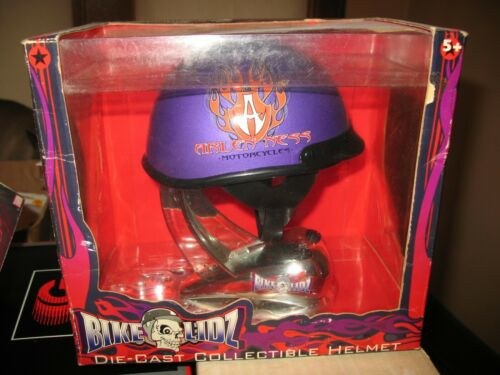 2001 Bike Lidz Die Cast Helmet ~Arlen Ness Motorcycles Purple Orange Flame