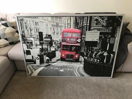 Large Framed Picture - London Bus Abbotsford Yarra Area Preview