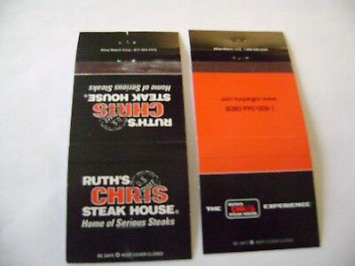 Lot O2 Different Match Covers   Ruths Chris Steak House   Various Locations