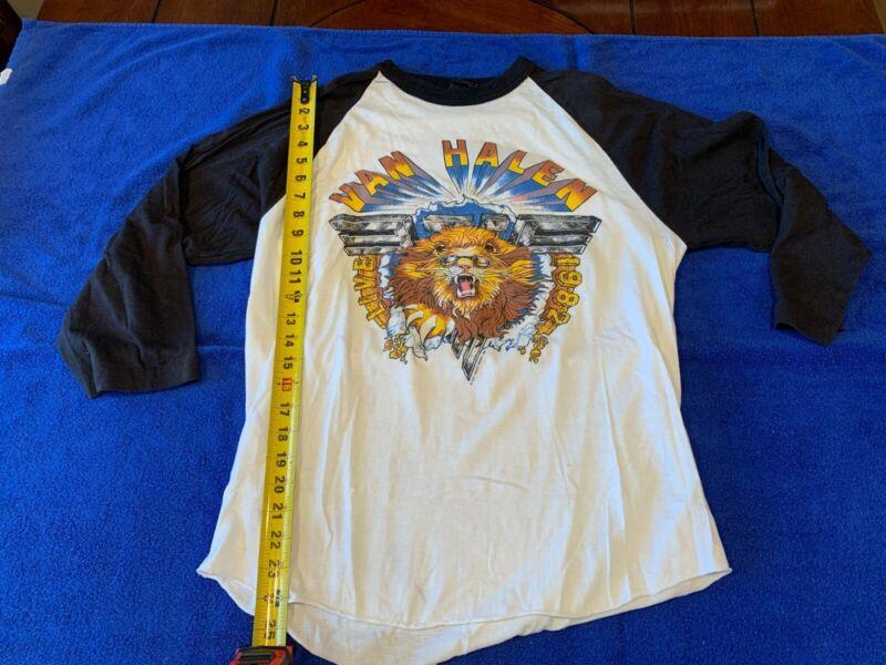 Vintage Van Halen Concert Jersey 1982 Los Angeles Forum XL