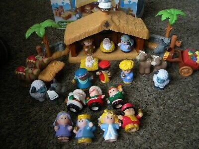 Fisher Price Little People A Christmas Story Nativity Set Complete In Box + EXTR