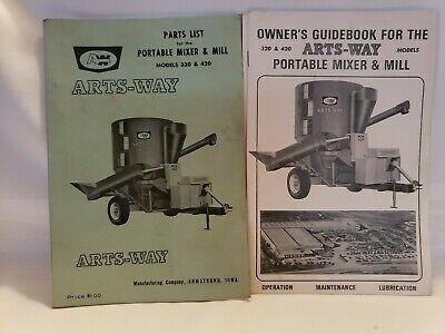 Arts Way 320 420 Portable Mixer Mill Operators Parts Manuals