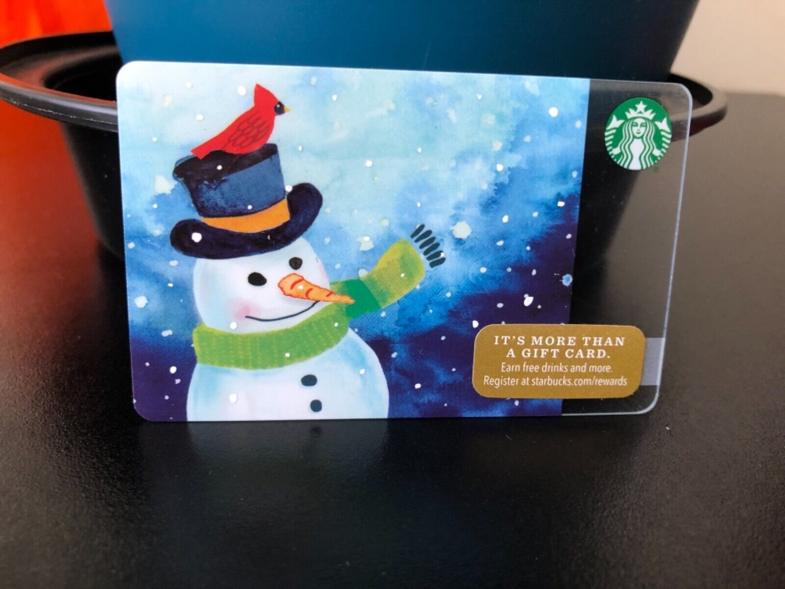 New Reloadable Frosty The Snowman Starbucks Gift Card Empty  - $3.25