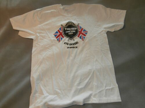 Vintage Triumph Motorcycle Come Home 2002 Rally T Shirt